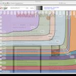Darstellung des sichtbaren Bereichs einer Seite bei Googles Browsersize