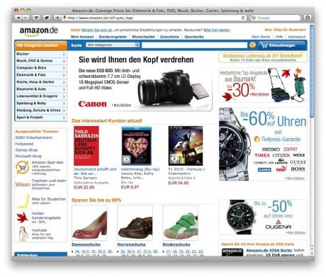 Amazon Startseite