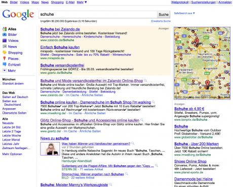 Wer bei beliebten Suchworten auf die ersten Plätze bei Google will, der muss kämpfen.