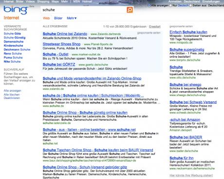 Seit 2009 mischt Microsoft im Suchmaschinenmarkt mit Bing mit. Bedienung und Ergebnisse unterscheiden sich nur im Detail von Google.