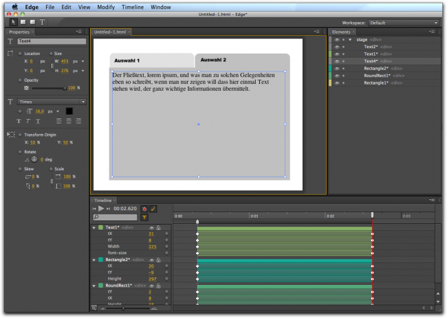 Das Programm Edge von Adobe
