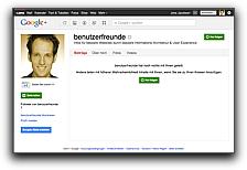 Google+-Seite der Benutzerfreun.de