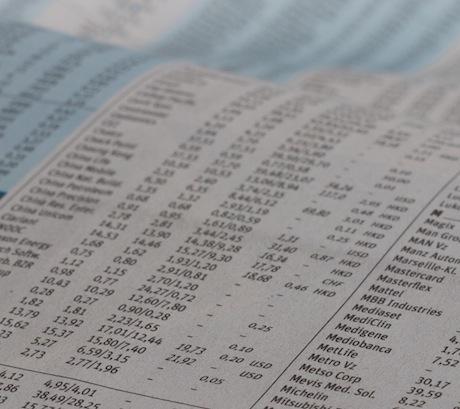 Aktienkurse in der Zeitung