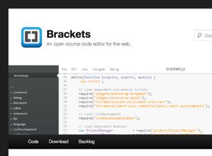 Screenshot des Brackets-Blogs