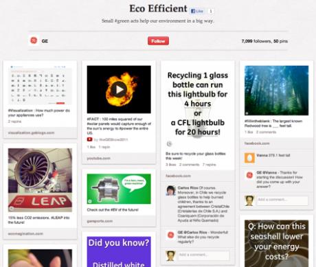 Screenshot Pinterest General Electric