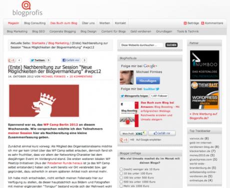 Screenshot Blogprofis.de