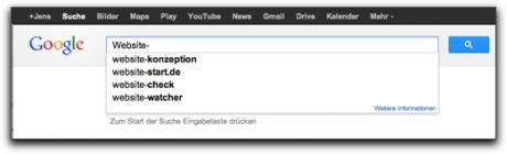 Screenshot Google Suggest