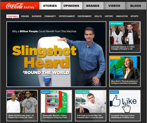 Coca Cola macht richtig Ernst mit Content Marketing.