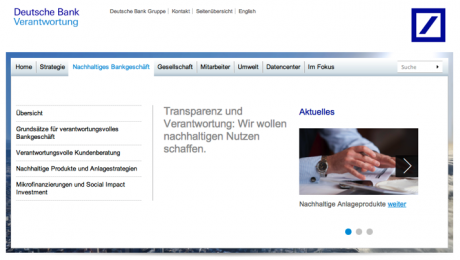 Website Deutsche Bank