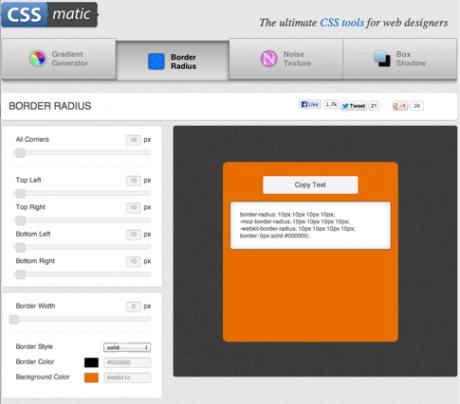 Screenshot CSSmatic