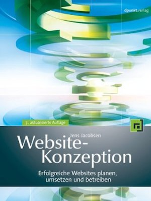 Titelseite Buch Website-Konzeption
