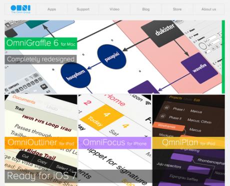 Nicht nur die Programme, auch die Website hat die Omnigroup aktualisiert und modern gestaltet.