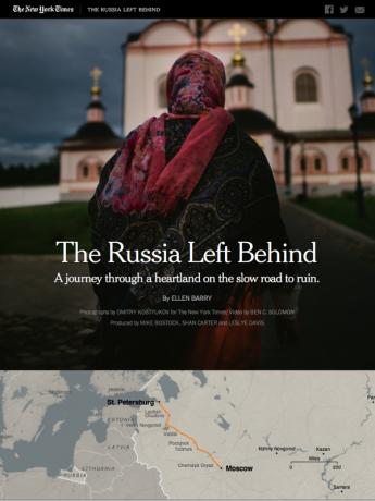 Screenshot Russland-Feature NYT