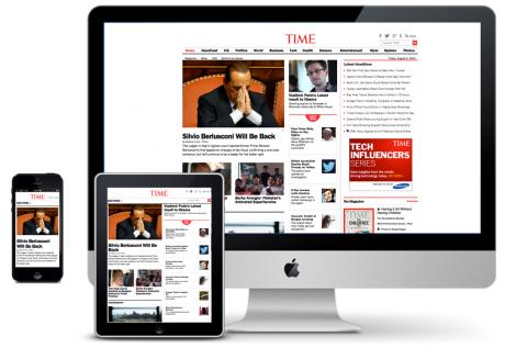 Website Time.com responsiv