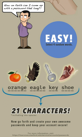 Infografik Passwortwahl Stanford