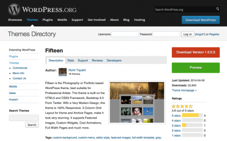 Screenshot WordPress-Theme