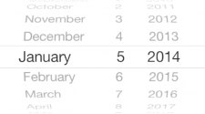 Screenshot Date Picker iOS7