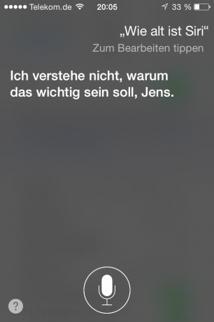 Screenshot Siri