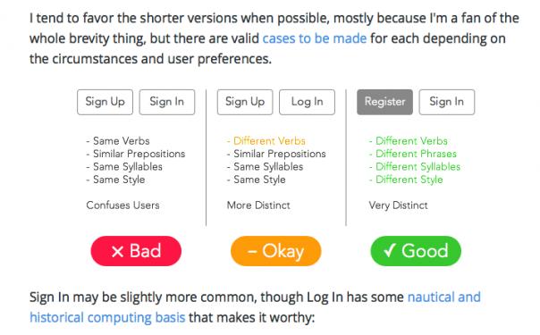 Screenshot Login-Seite Wortwahl