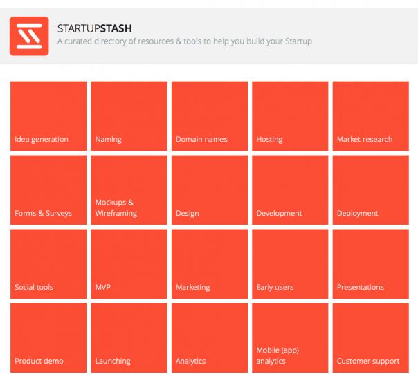Screenshot Website StartupStash