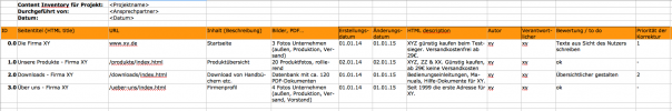 Screenshot Content Inventory