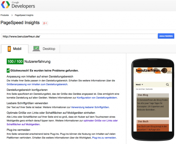 Google PageInsights