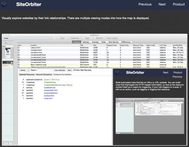Screenshot SiteOrbiter