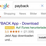 Screenshot Google AdWords-AppExtensions