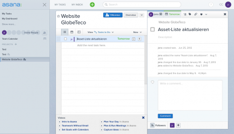 Screenshot Asana