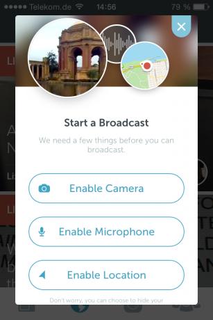 Screenshot Periscope App