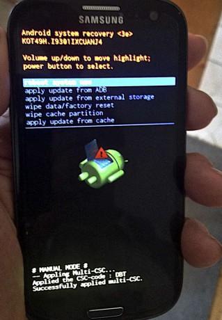 Fehlermeldung Android