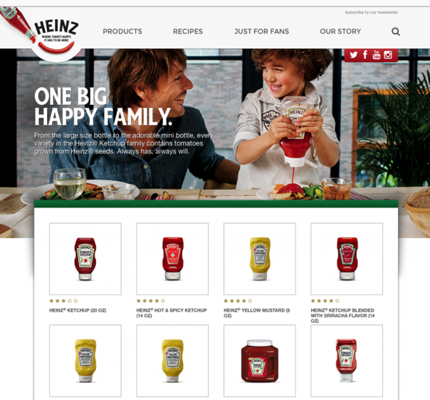 Screenshot Website Heinz