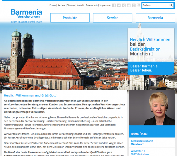 Screenshot Website Barmenia