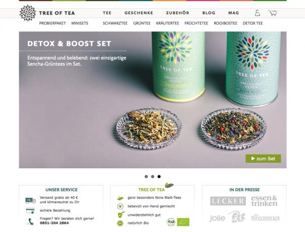 Screenshot Website Tree of Tea