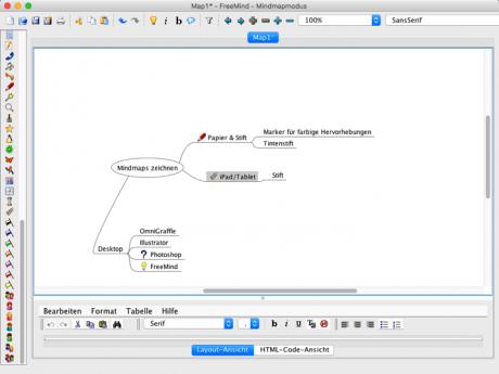 Screenshot FreeMind