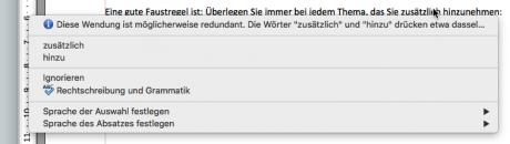 Screenshot LanguageTool in OpenOffice
