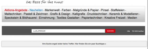 Screenshot Suchergebnis Gerstaecker