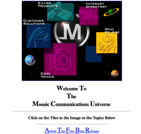 Screenshot Website Mosaic