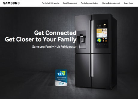 Foto Website Samsung Smart Fridge