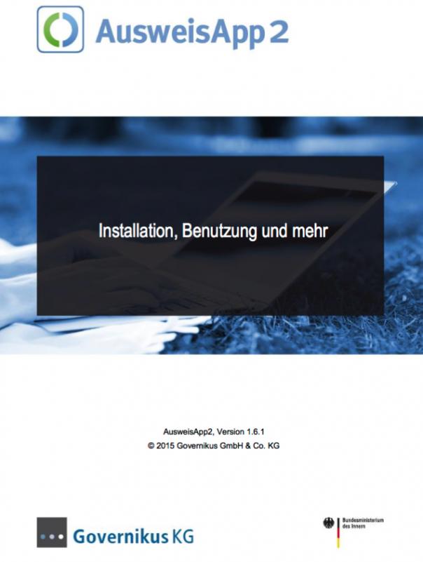 Titelblatt Handbuch Ausweis App
