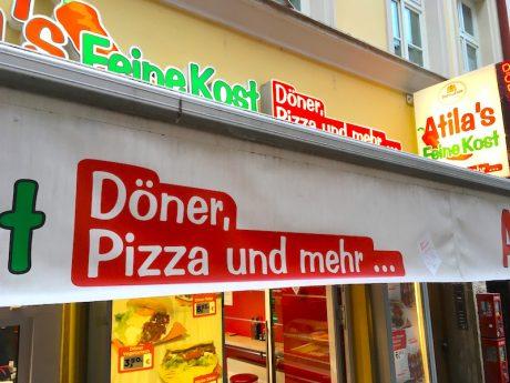 Foto Schild Döner, Pizza und mehr…