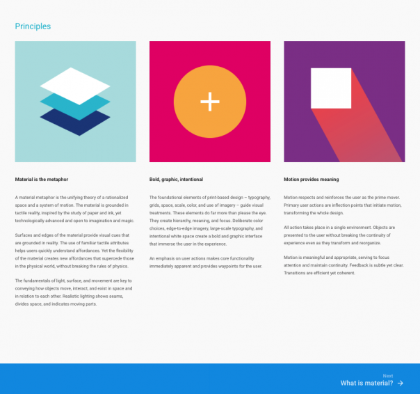 Material Design Guidelines bei Google