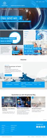 Screenshot Website Thyssenkrupp