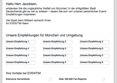 Screenshot E-Mail ohne geladene Bilder