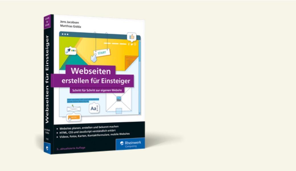 Vorschaubild HTML-Buch Webseiten erstellen für Einsteiger