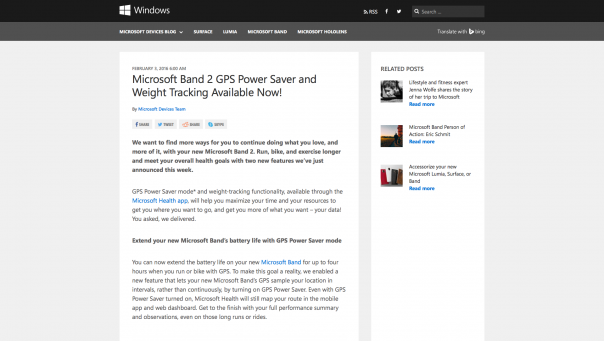 Screenshot Microsoft.com mit viel Text