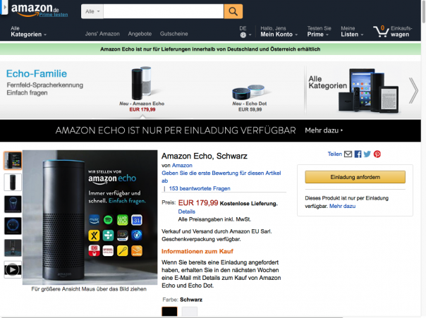 Screenshot Amazon Echo
