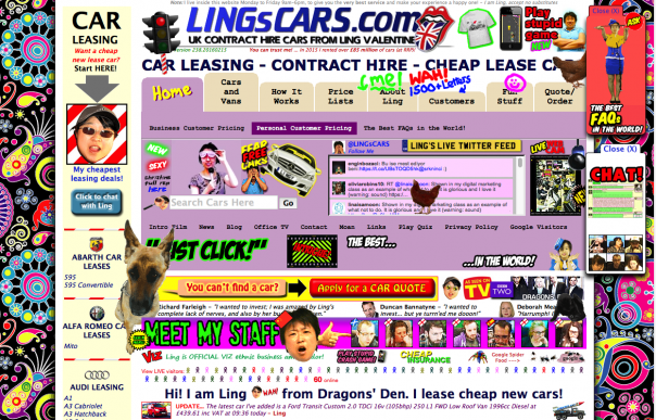 Screenshot LingCars.com