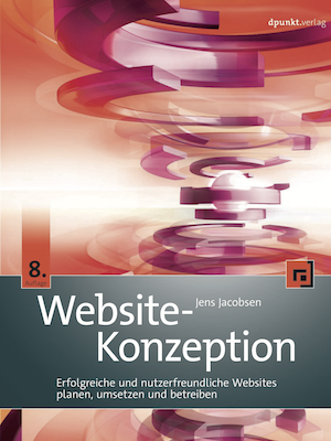 Cover Website-Konzeption Buch Jens Jacobsen
