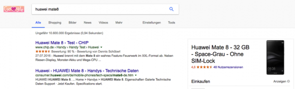 Screenshot Trefferliste Google